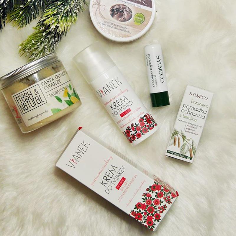 Najlepsze, naturalne kosmetyki do twarzy i ciała na zimę. 4 typy do twarzy i ciała.